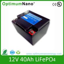 Pilha de bateria recarregável MSF 12V 40ah LiFePO4