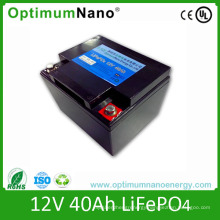 Deep Cycle Life 12V 40ah UPS Lithium Battery