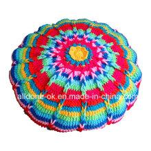 Novo design fantasia decorativos mão malha crochet travesseiro almofada caso