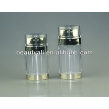 20ml 30ml 60ml dual pump airless bottle, double pump, cosmetic bottle