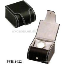 boîte de montre en cuir pour l'usine de montres unique