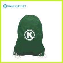 Le sac à dos de football de cordon de polyester imprimée par logo fait sur commande bon marché