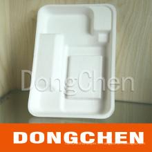 Boîte en papier à la pulpe à compartiments écologiques écologiques personnalisés pour aliments et fruits