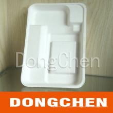 Customized Eco Green Compartment Pulp Paper Tray for Food and Fruit