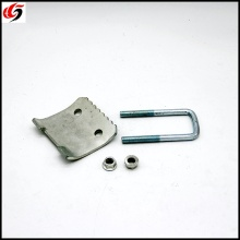 Galvanised U Bolt Beam Clamp 80mm x 46mm c/w U Bolt & Nut