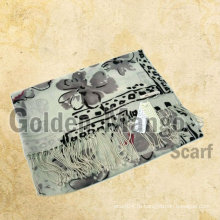 Мода печатные 100% шерстяные шарфы