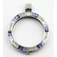 High Quality 316L Stainless Steel Floating Locket with Stone
