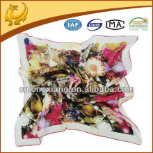 90X90cm Digitaler bedruckter Silk Satin Square Schal
