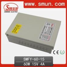60W 15V 4A Rainproof CCTV IP67 Импульсный источник питания