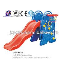 Crianças plástico indoor urso slide