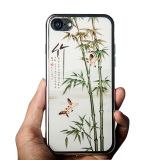 TPU with PC case of Chinese style for iPhone 7 or iPhone 7 plus, soft case for iPhone 7