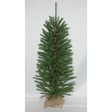 Jute Wrap Base Artificial Árvore de Natal com String light Multi Color LED Decoration (AT2029)