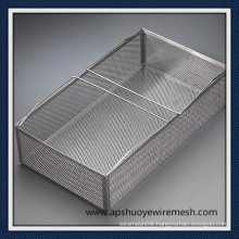 Stainless Steel Storage Basket with Handle