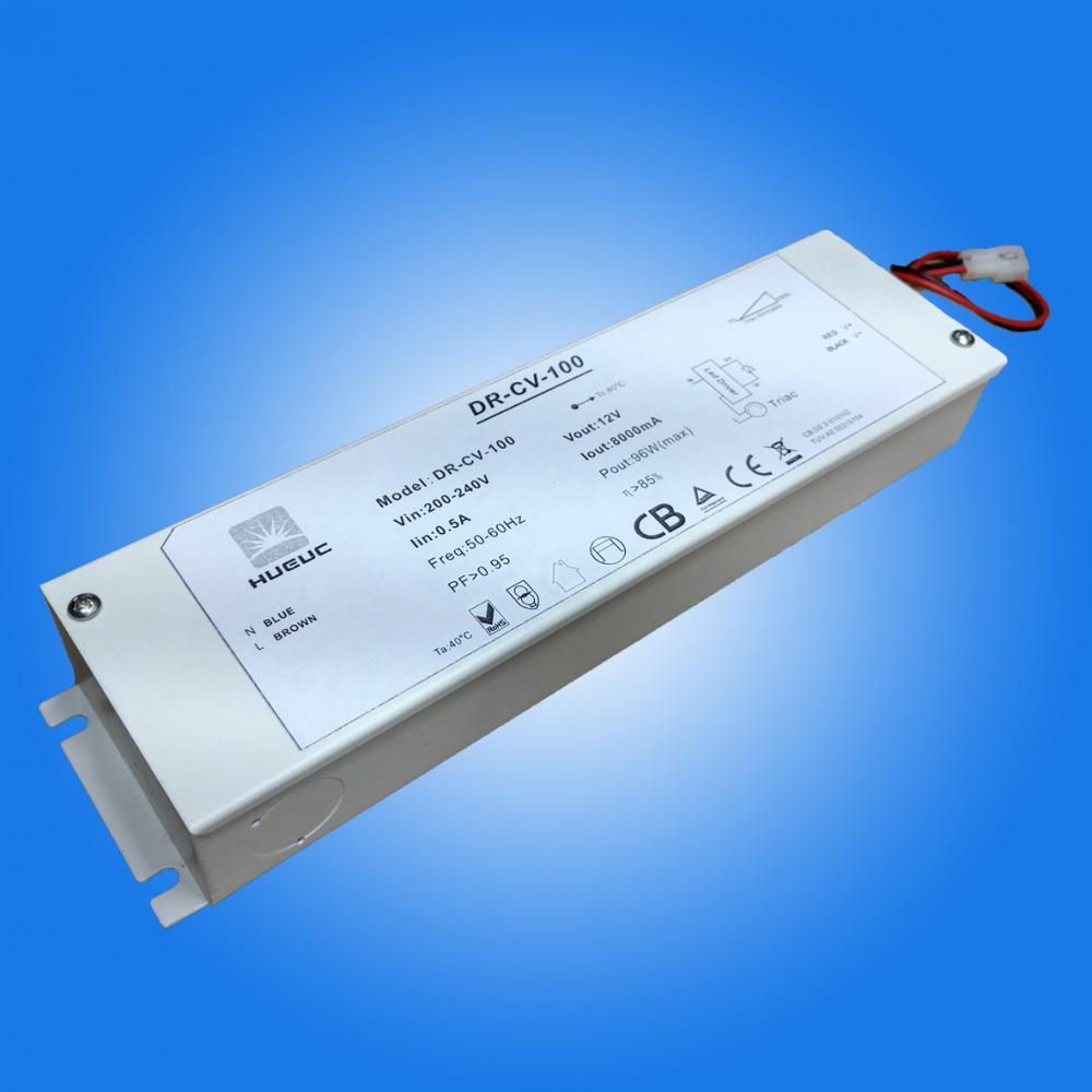 100W 0-10V dimmable led driver