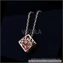Corazón, VAGULA en caja diseño collar chapado en oro (Hln16338)