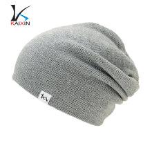Sombrero gris de la gorrita tejida de la venta caliente hecho por encargo de Fashional 2017