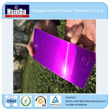 Não tóxico Luminoso Candy Purple Powder Hybrid Spray Powder Coating