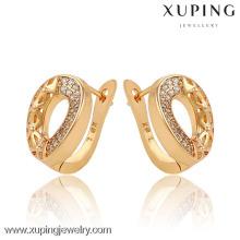 90731 18K Gold Plated Hoop Earrings Jewelery Small Circle Round Hoop earrings