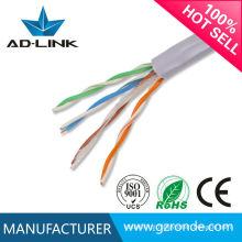 Made in china Única linha de condutor de cobre puro de alta velocidade cabo de rede 350MHz cat5e