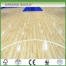 Suelo de madera sólida del baloncesto del roble natural
