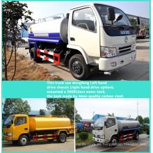 Carro del tanque del agua de Dongfeng 4 X 2 LHD 3300 mm distancia entre ejes 5000liters