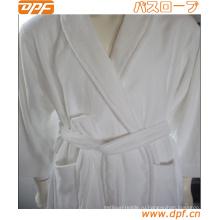 Узорчатый женский халат с воротником из искусственного меха