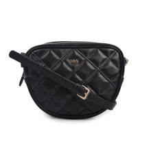 Lamp Leather Weave Grid Bag Black Mini Bag