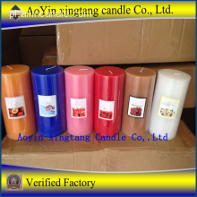 Multi-Colored 7.5 * 7.5 Pillar Candle for Wedding