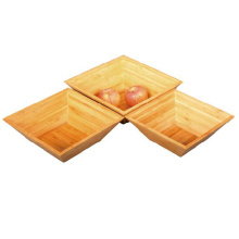 Bamboo stackable bowl set for salad food