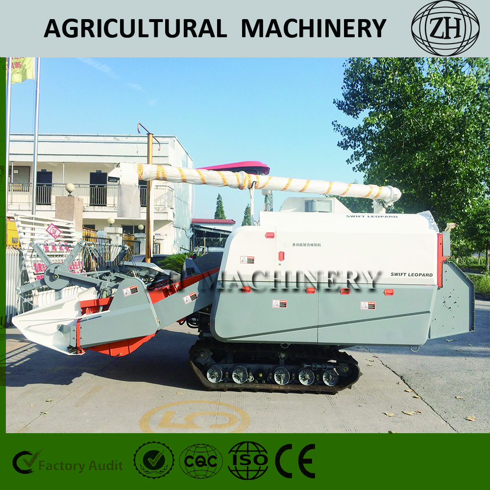 Big Feeding Capacity Corn Rape Combine Harvester