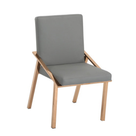 luxury room chair with stainless steel legs