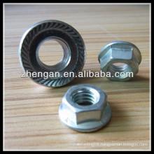 zinc plated flange knurled nut