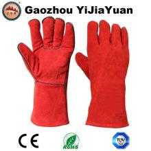 Длинные кожаные сварочные перчатки с кевларовым швом для сварщиков