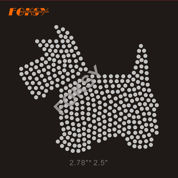 Bling Dog Hot Fix Rhinestone Motif Transfers