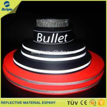 Cinta reflexiva elástico modificada para requisitos particulares de la cinta reflexiva de la seguridad / correas de nylon