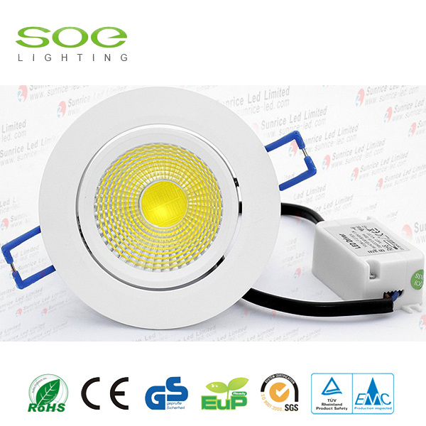 10W redondo Dimmable cob Led Downlight