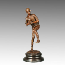 Statue de sport Baseball Pitcher Bronze Sculpture, Milo TPE-766
