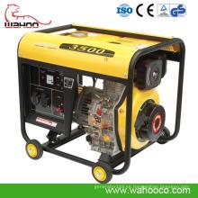 CE aprobó el pequeño generador diesel 3kw (WH3500DG)