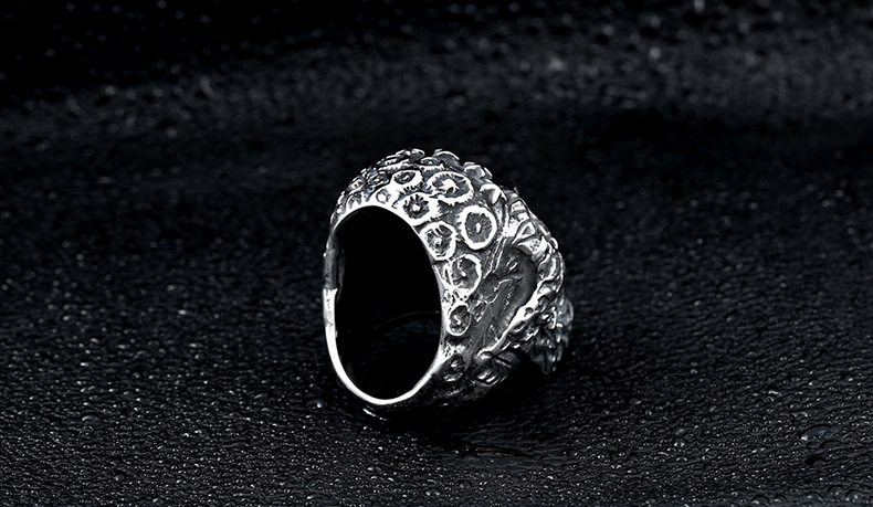 Cool Skull Black Diamond Ring For Men