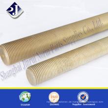 Hersteller aus China Carbon Stahl gelb verzinkt Vollgewinde Bolzenschraube
