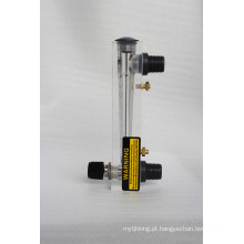 O painel de Lzm montou o medidor de fluxo líquido acrílico 0.2-2gpm 1-7 Lpm com válvula de regulamento