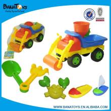 Plástico areia praia brinquedo balde caminhões