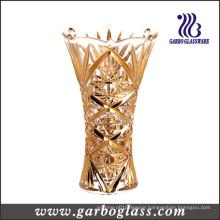 Golden Glass Flower Vase (GB1508GW-1/D)