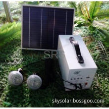10W Mini Solar Power System Portable, 12V 12Ah Battery with LED Bulbs