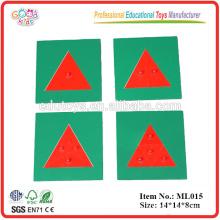 Juguetes educativos Triángulos de metal Montessori juego Materiales de lenguaje