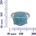 Schöne Larimar Edelstein 925 Sterling Silber Ring Schmuck