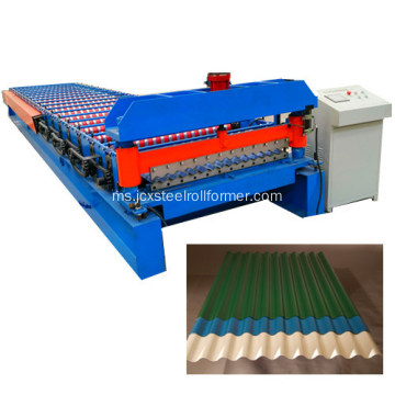 Lembaran Roofing Beralur Roll Forming Machinery
