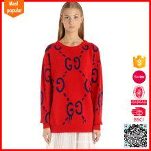 Modeschmuck Hals Intarsia Wolle Pullover Mädchen