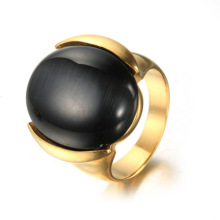 Fashion Round Dome Shape Ändra Mood Stone Ring