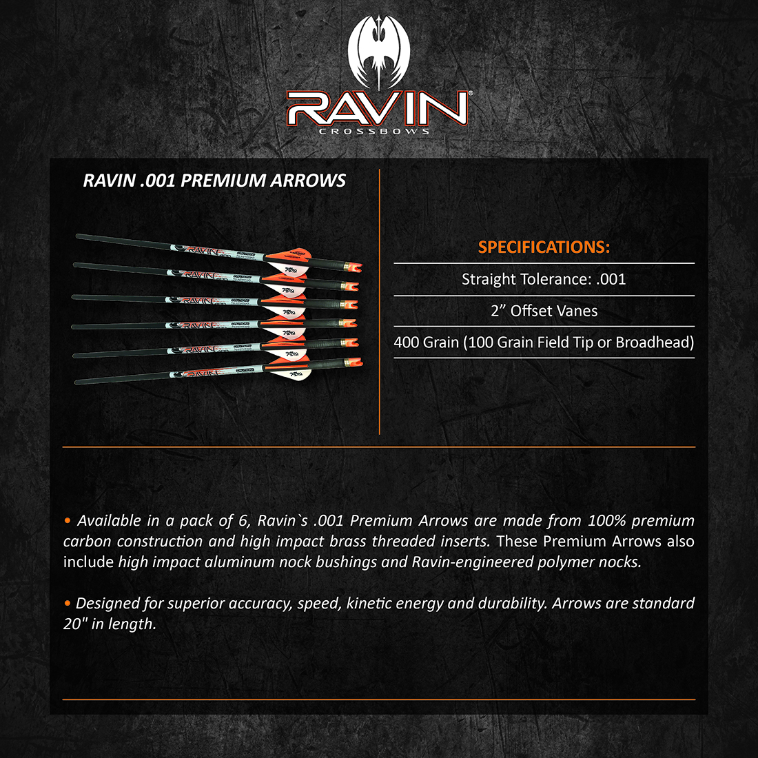 Ravin_001_Premium_Arrows_Product_Description